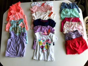 Creating toddler outfits