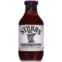 Stubb's Sticky Sweet Bar-B-Q Sauce, 18 oz (Pack of 4)