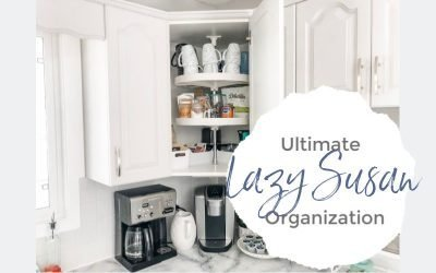 Lazy Susan Cupboard turned Ultimate Coffee Station