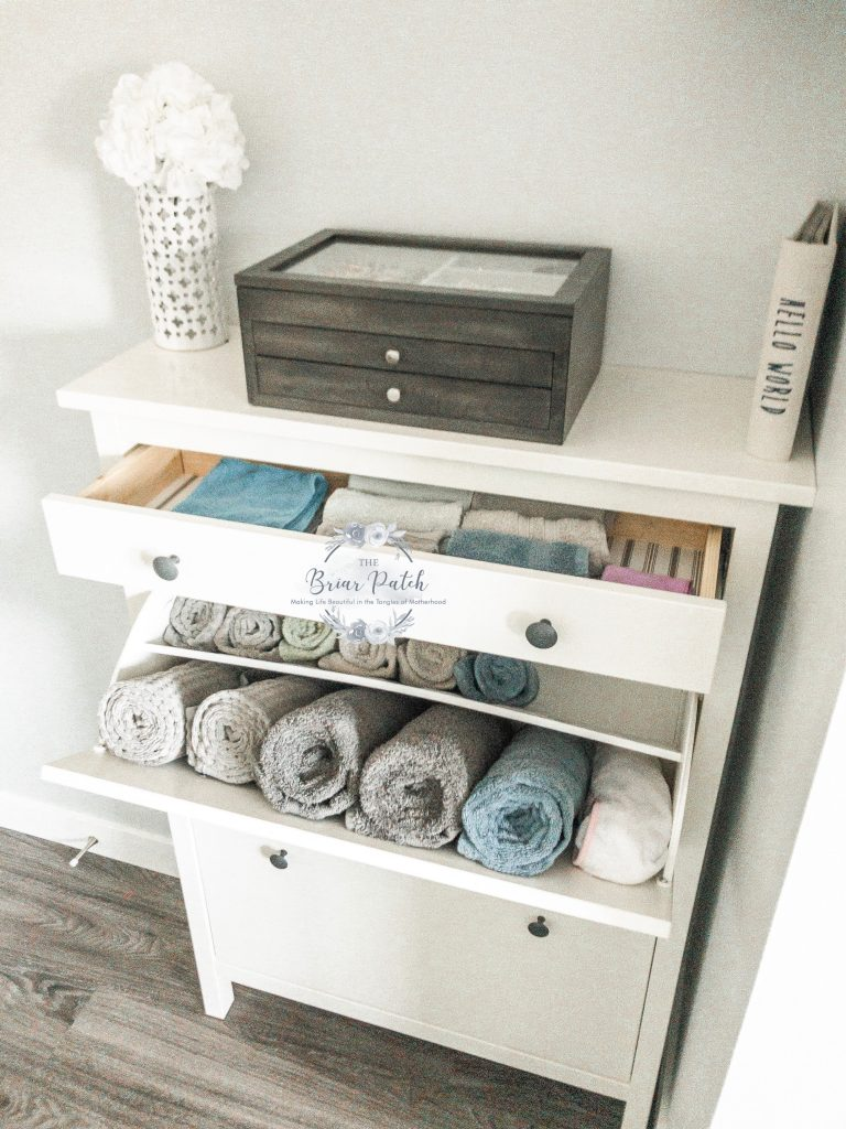 Linen Storage Without A Linen Closet The Briar Patch