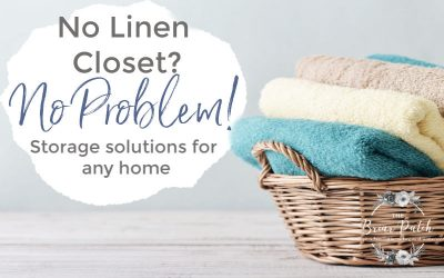 Linen Storage without a Linen Closet