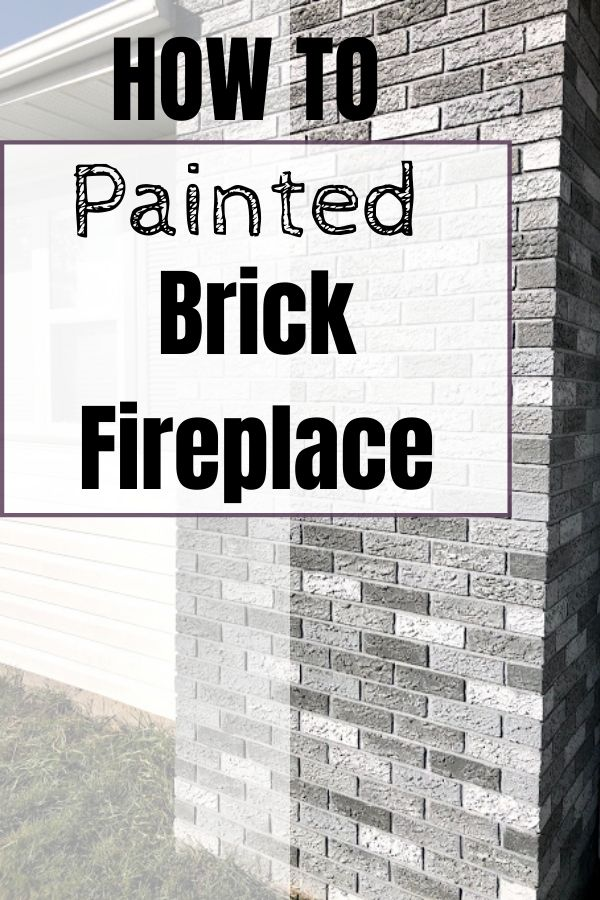How to paint a brick fireplace chimney yourself. DIY painting project to modernize your home's exterior.
