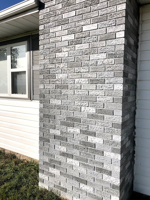 Diy Painted Exterior Brick Chimney The Briar Patch