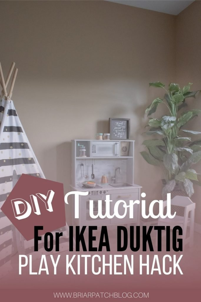 Makeover your very own IKEA DUKTIG play kitchen with this DIY Tutorial. Create a personalized kitchen in the design of your dreams for your children in one weekend! Free resources included in tutorial, including downloadable paint chart and SVG Cut files for cutting machines.