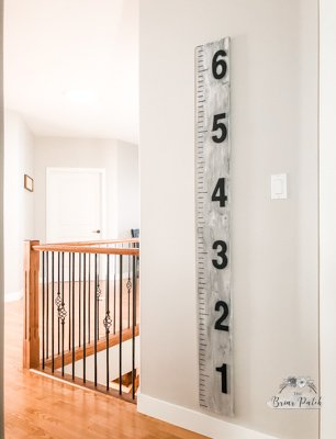 Finished 3D Growth Chart Ruler on wall in family home.