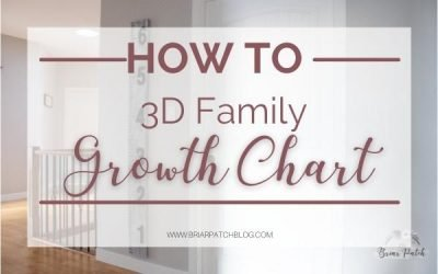 3D Growth Chart Ruler: DIY lifesize ruler at home to track precious memories