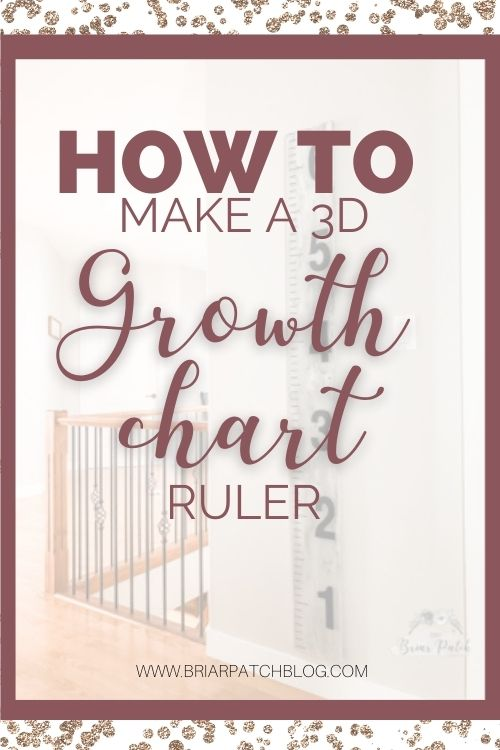 Full DIY tutorial to help you make your own 3D Growth Chart Ruler. Hang this beautiful project up in your family home to enjoy tracking your children's heights for years to come.