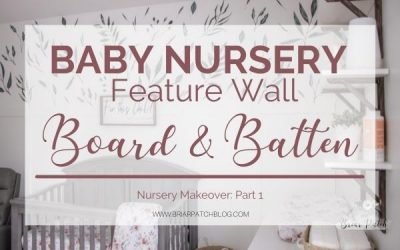 Neutral, Foliage Themed Board and Batten Baby Nursery Feature Wall