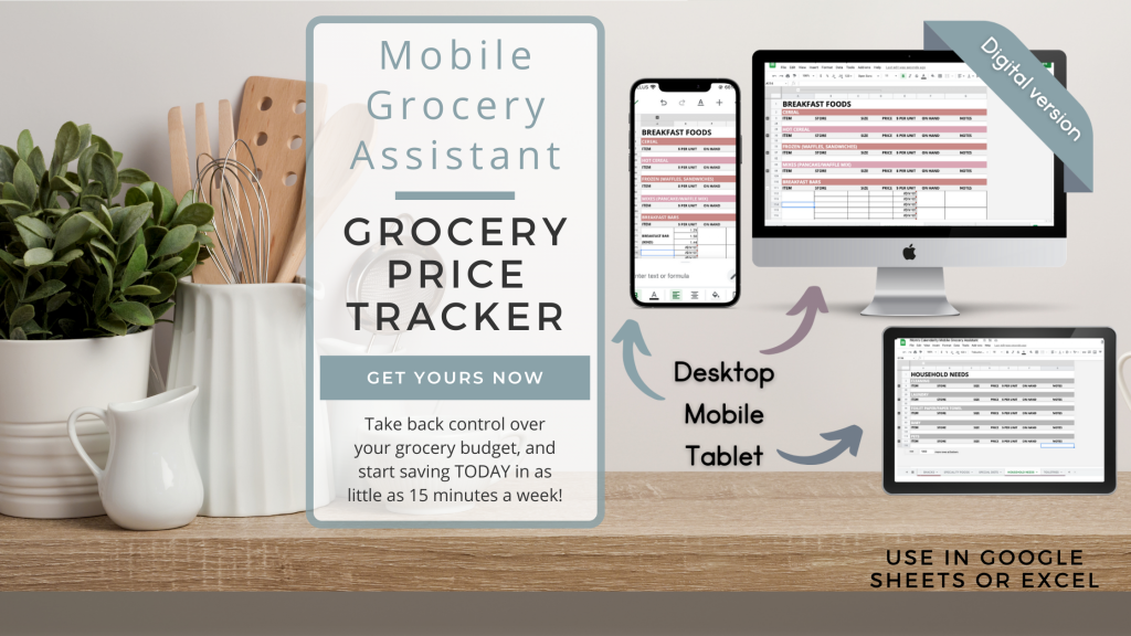 Mobile grocery assistant - a google sheets spreadsheet for tracking grocery prices in a simple - mobile optimized interface. Grab yours today!